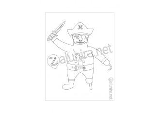 Dibujos para colorear - El tesoro pirata